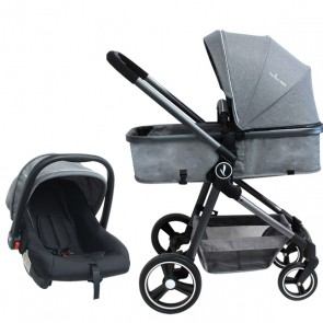 Coche Mike Travel System Gris